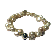 Peanut Pearl Wedding Jewellery Bracelet by Juliana Jewellery