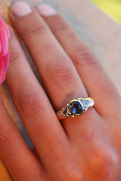 Vintage engagement ring by Juliana Jewellery