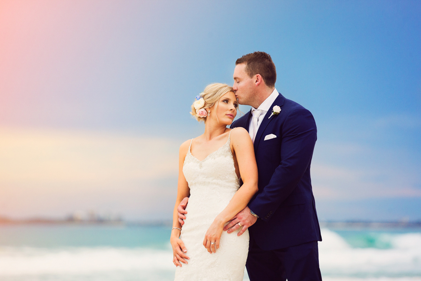 Noosa Wedding Photos on the Beach at Sunset